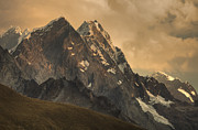 Mountain Art - Rondoy Peak 5870m At Sunset by Colin Monteath