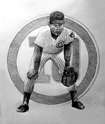  Baseball Art Drawings Framed Prints - Ronnie Framed Print by Adam Barone