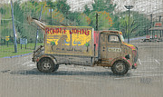 Truck Pastels Prints - Ronnie Johns Beach Cafe Print by Donald Maier