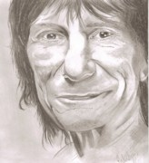 Ronnie Wood Art - Ronnie Wood by John Gambrill