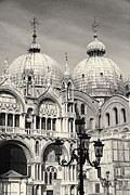 Byzantine Photos - Roof and Facade of St Mark Basilica  by George Oze