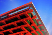 Red Roof Photo Originals - Roof Corner - Expo China Pavilion Shanghai by Christine Till