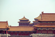 Forbidden City Prints - Roof Of Forbidden City Print by Pan Hong