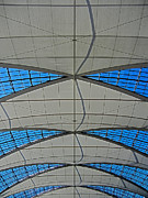 Architektur Metal Prints - Roof Structure ... Metal Print by Juergen Weiss