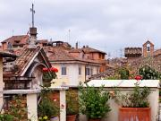 Tile Roof Framed Prints - Roof Tops in Rome Framed Print by Marion McCristall
