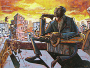 Saxophone Paintings - Roof Trane by Sean Hagan