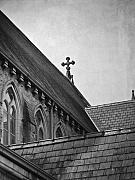 Neo Digital Art Prints - Rooflines at St Marys Print by Teresa Mucha