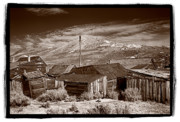 Weathered Wood Framed Prints - Rooflines Bodie Ghost Town Framed Print by Steve Gadomski