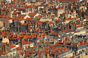 Lyon Framed Prints - Roofs Of Houses Framed Print by Copyrights by Sigfrid López