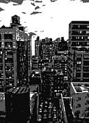 Rooftop Bw3 Print by Scott Kelley
