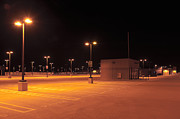 Rooftop Photos - Rooftop Car Park at Night by Dave & Les Jacobs