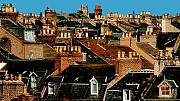 Roofline Prints - Rooftop Fantasy Print by Joe Bonita