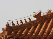 Forbidden City Prints - Rooftop Guardians in the Forbidden City Print by Carol Groenen