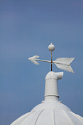 Weathervane Photo Prints - Rooftop of lighthouse Print by Gabriela Insuratelu