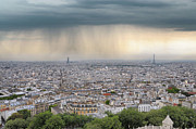 Paris Art - Rooftop Of Paris Town by JimPix