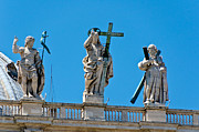 Rooftop Photos - Rooftop of St Peters Basilica Vatican Rome by Jon Berghoff