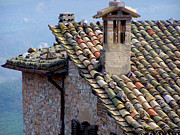 Tiled Prints - Rooftop Tiles in Italy Print by Jack Schultz