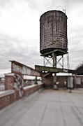 Rooftop Framed Prints - Rooftop Water Tower Framed Print by Eddy Joaquim