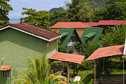 Porches Prints - Rooftops Costa Rica Print by Michelle Wiarda