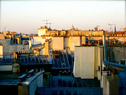 Jon Berry Metal Prints - Rooftops Metal Print by Jon Berry