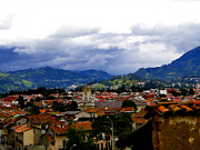 Threatening Prints - Rooftops of Cuenca Ecuador Print by Al Bourassa