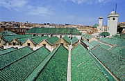 Schools Metal Prints - Rooftops of the buildings and mosque of the University of Al-Karaouine Metal Print by Sami Sarkis