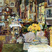 19th Century Prints - Room Of Flowers, 1894 Print by Granger