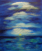 Storm Clouds Paintings - Room To Breathe by Donna Blackhall