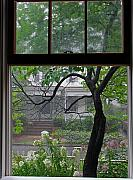 Room With A View Framed Prints - Room with a Rainy View Framed Print by Juergen Roth