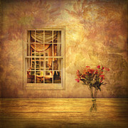 Curtains Digital Art Posters - Room With a View Poster by Jessica Jenney