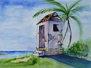 Bahamas Landscape Paintings - Room with a View by Joan Stuart
