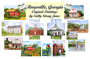 Hardware Painting Posters - Roopville Georgia Poster by Sally Storey Jones
