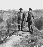 Republican Photos - Roosevelt & Muir by Granger