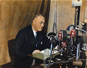 Democratic Party Photos - Roosevelt: Fireside Chat by Granger