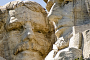 Lincoln City Posters - Roosevelt on Mt Rushmore National Monument Poster by Jon Berghoff