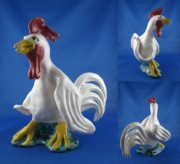 Landscapes Ceramics - Rooster by Bob Dann