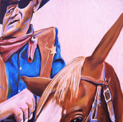 John Wayne Paintings - Rooster by Buffalo Bonker