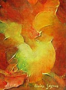 Bright Color Rooster Prints - Rooster Print by Claire Gagnon