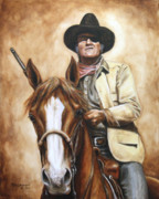 John Wayne Paintings - Rooster by Kim Lockman