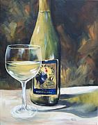 Red Wine Paintings - Rooster Wine - SOLD by Torrie Smiley