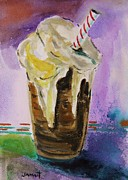 Beer Drawings Prints - Root Beer Float Print by John  Williams