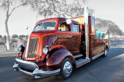 Truck Detail Prints - Root Beer Hauler Print by Bill Dutting
