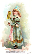 Trade Card Framed Prints - ROOT BEER TRADE CARD c1880 Framed Print by Granger