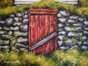 Cellar Paintings - Root Cellar  by Kristina Steinbring