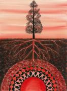 Tribal Paintings - Root Chakra by Catherine G McElroy