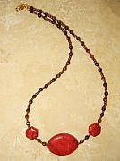 Red Beads Jewelry - Root Chakra Necklace by Treasure-Tob E