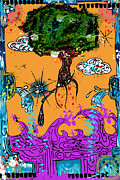 Drawn Mixed Media Framed Prints - Rooted Envisionary Framed Print by Eleigh Koonce