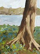 Tree Roots Painting Posters - Rooted Poster by Irene Pruitt