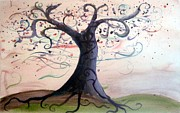 Tree Roots Painting Posters - Rooted Poster by Jennifer Wade