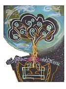 Branches Pastels Posters - Roots Grow Deep Poster by Casey Park